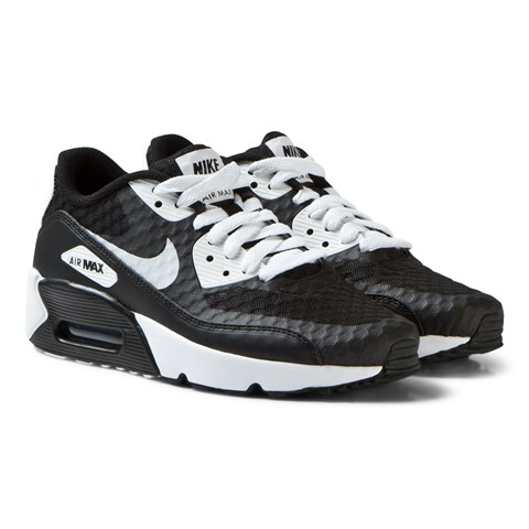 Black and White Air Max 90 Ultra 2.0 Junior Trainers