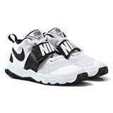 Nike White and Black Team Hustle Junior Trainers