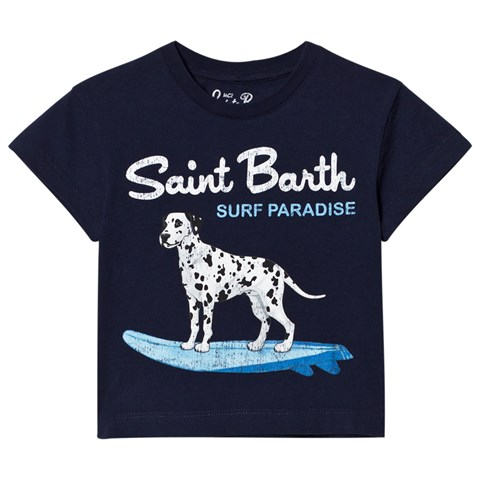 Navy Surfing Dalmation Tee