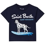 MC2 St Barth Navy Surfing Dalmation Tee