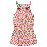 MC2 St Barth Pink All-Over Watermelon Print Playsuit
