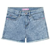 Guess Acid Wash Denim Shorts with Frayed Edge