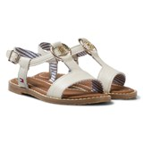 Tommy Hilfiger White Leather Sandals