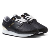 Tommy Hilfiger Navy with Gold Lace Trainer