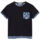 Dolce & Gabbana Navy and White Tile Print Pocket Tee