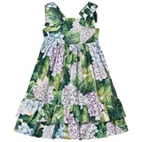 Dolce & Gabbana Floral Cotton Dress with Bow Detail