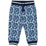 Dolce & Gabbana Blue and White Tile Print Sweatpants