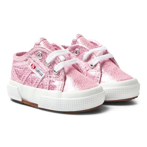 Superga Pink Lameb 2750 Trainers