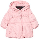 Catimini Pale Pink Hooded Puffa Coat