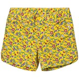 Gap Yellow Floral 5 Pocket Midi Shorts