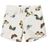 Gap White Butterfly Print 5 Pocket Midi Shorts