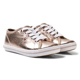 Tommy Hilfiger Rose Gold Lace Trainers