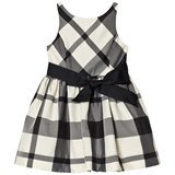 Ralph Lauren Black and White Check Dress with Bow