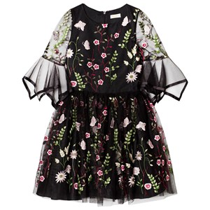DAVID CHARLES | David Charles David Charles Black Embroidered Floral Dress With 3/4 Sleeves 16 Years | Goxip