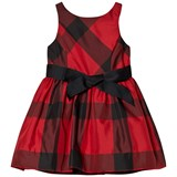 Ralph Lauren Red and Black Check Dress with Bow