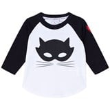 Scamp & Dude Black and White Cat Print Long Sleeve T-Shirt