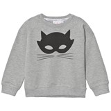 Scamp & Dude Grey Cat Mask Chilled Fit Sweatshirt