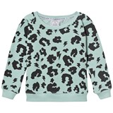 Scamp & Dude Green Leopard Print Sweatshirt