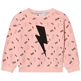 Scamp & Dude Coral Lightning Print Sweatshirt