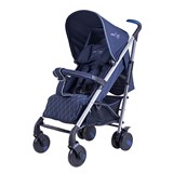 Basson Baby Blue Pico Quilted 6 Wheel Stroller