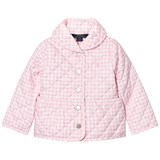 Ralph Lauren Pink and White Gingham Barn Jacket