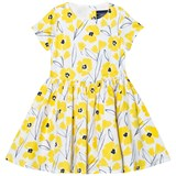 Lands' End White and Yellow Floral Twirl Dress