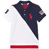 Ralph Lauren Navy, White and Red Big PP Banner Polo
