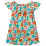 Lands' End Multi Flowers Woven Ruffle Dress