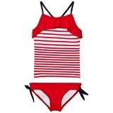 Lands' End White Compass Red Stripe Tankini