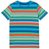 Lands' End Multi Stripe Coral Poppy Tee