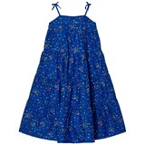 Lands' End Blue Multi Confetti Dots Summer Maxi Dress