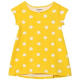 Lands' End Yellow Polka Dot Trapeze Top