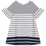 Lands' End Striped Bell Sleeve Ponte Dress