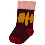 Wolf & Rita Red and Yellow Mountains Socks