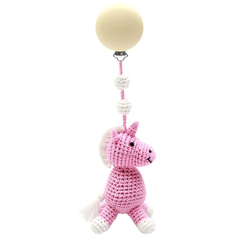 natureZOO Light Pink Miss Unicorn Stroller Toy