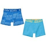 Bjorn Borg Pack of 2 Printed and Blue Trunks