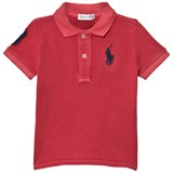 Ralph Lauren Red Cotton Mesh Big Pony Polo