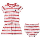 Ralph Lauren Berry Pink Stripe Jersey Dress