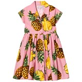 Dolce & Gabbana Pink Pinapple Print Button Front Shirt Dress