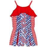 Kenzo Kids Mini Me Multi Print Playsuit