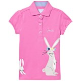 Joules Pink Rabbit Applique Polo Shirt