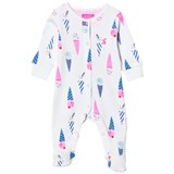 Joules White Ice Cream Print Babygrow
