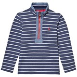 Joules Navy Washed Stripe Half Zip Sweatshirt