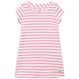 Joules Bright Pink Stripe Jersey Dress