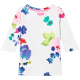 Joules White and Floral Jersey Top