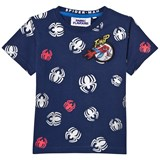 Fabric Flavours Spider-Man Repeat Print Reflective Tee