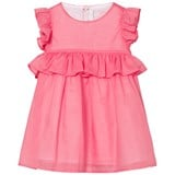 Il Gufo Pink Cotton Frill Sleeve Peplum Dress