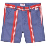 Il Gufo Red and Blue Stripe Shorts