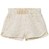 Petit by Sofie Schnoor Off-White and Gold Shorts