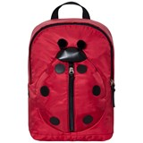 Dolce & Gabbana Red Ladybird Leather and Nylon Backpack